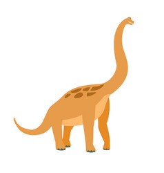 brachiosaurus dinosaur of jurassic period vector image