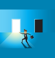 business concept business man to choose between vector image