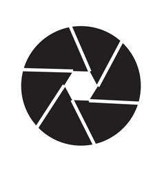 Camera shutter icon design vector