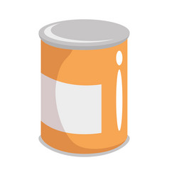 Can of food icon vector