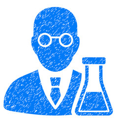 Chemist grunge icon vector
