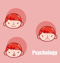 Childrens psychology cartoons vector