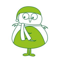 Christmas cute bird character vector