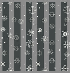 christmas seamless pattern black and white vector image