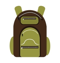 colorful camping backpack graphic vector image