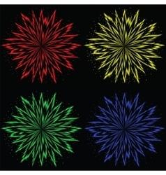 Colorful flower burst vector