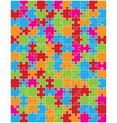 colorful puzzle separate pieces vector image