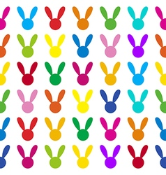 Colorful Rabbit White Background vector