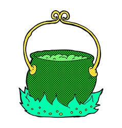 comic cartoon witchs cauldron vector image