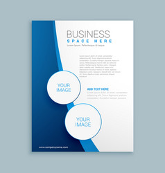Company brochure template design vector