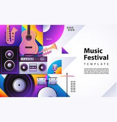 Creative modern background design based music vector