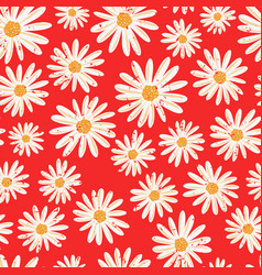 daisy flowers seamless background vector image