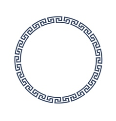 Decorative round frame for design in Greek style vector image