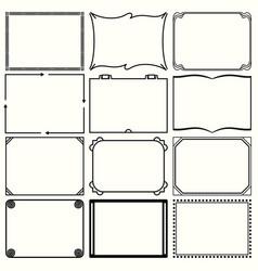decorative simple frames set 12 vector image