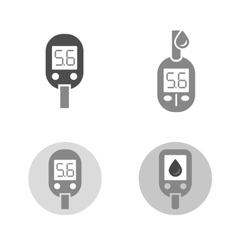 Diabetes Glucometer Icons vector