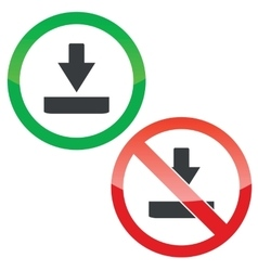 Download permission signs set vector image