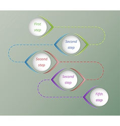five steps vector image