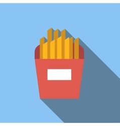 French fries flat icon vector image