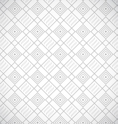 Geometric gray seamless pattern vector image