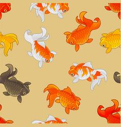 goldfish pattern vector image