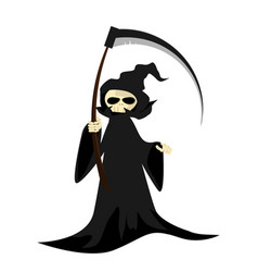 halloween character with grim reaper with scythe vector image