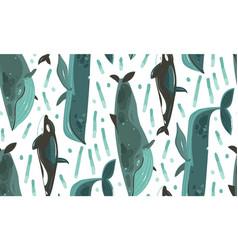 hand drawn abstract cartoon graphic summer vector image