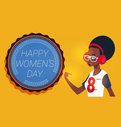Happy women day 8 march greeting card with modern vector