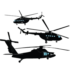 helicopters collection vector image