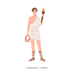 hymenaios or hymen - god or deity marriage vector image