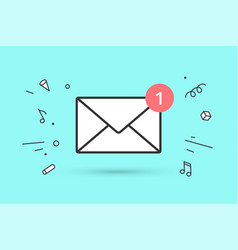 icon new mail envelope with red marker one vector image