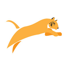 isolated abstract tiger vector image