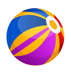 isolated beach ball icon vector image