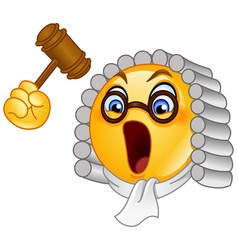 judge emoticon vector image