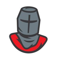 knight sign crusader helmet vector image