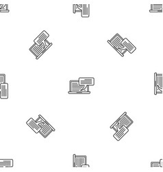laptop chatting pattern seamless vector image