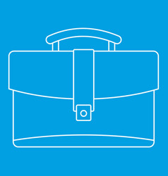 Leather briefcase icon outline style vector
