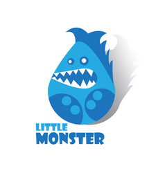little monster cartoon vector image