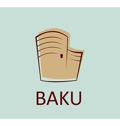 maiden tower baku sign vector image