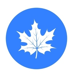 Maple leaf icon in black style isolated on white vector