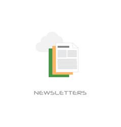 media paper news newspaper document newsletter vector image