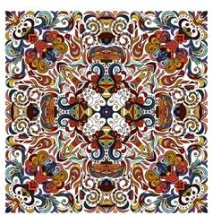 Ornamental doodle floral pattern design vector