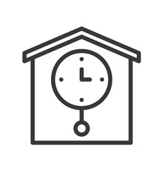pendulum clock pixel perfect icon outline design vector image