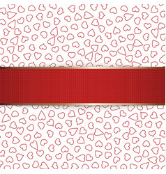 Realistic Christmas or Valentines Day red Ribbon vector