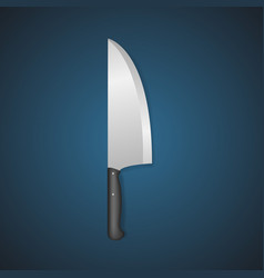 realistic detailed 3d butcher meat knife vector image