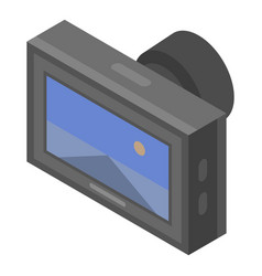 Road car dvr icon isometric style vector