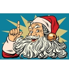 Santa Claus reminds Christmas is coming vector