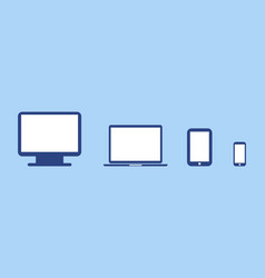 screen notebook tablet and phone collection vector image