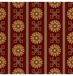 seamless gold vintage ornamental pattern vector image