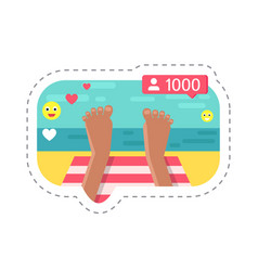 seaside holiday streaming from vacation vector image