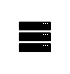 server icon computer server symbol in flat style vector image